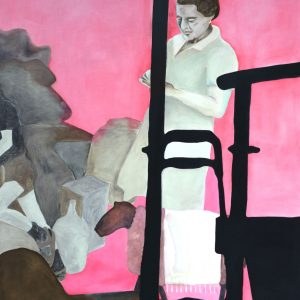 There is no mirror 2015, afm. 200x160 cm, 2200 euro, --, oil paint on canvas