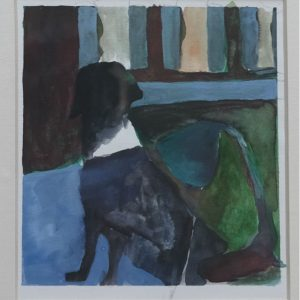 Black dog 2 2016, afm. 14,8x12,7 cm, 100 euro, --, watercolor on paper