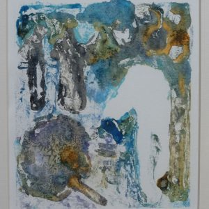 Let me show you the dance of my people 3 2015, afm. 24x18 cm, 230 euro, --, monoprint, oil paint on paper