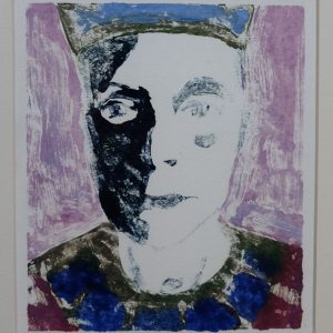 Self declared 1 2015, afm. 24x18 cm, 230 euro, --, monoprint, oil on paint on paper