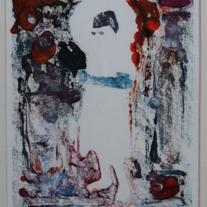 Unaware saint 7 2015, afm. 24x18 cm, 230 euro, --, monoprint, oil on paper